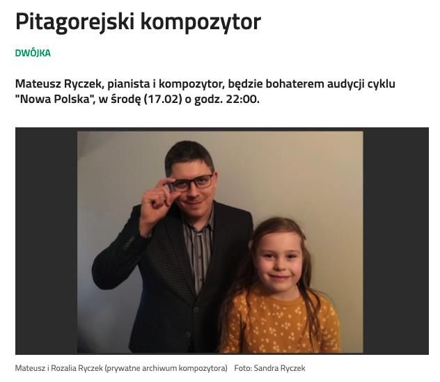 Zdjęcie przedstawia Mateusza Ryczka wraz z córką Rozalią